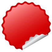 Vector glossy sticker