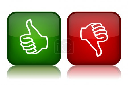 Thumbs up and down feedback buttons