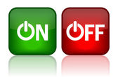 On and off web buttons vector illustration