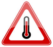 Danger vector sign high temperature