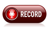 Vector record button isolated on white
