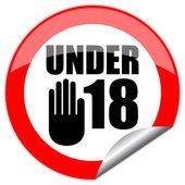 Under eighteen vector sign