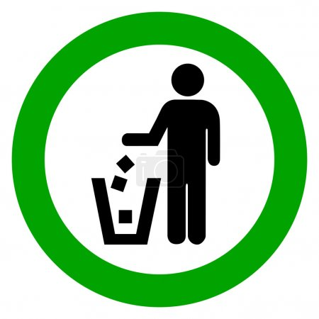 Illustration for Keep clean, no littering vector sign - Royalty Free Image