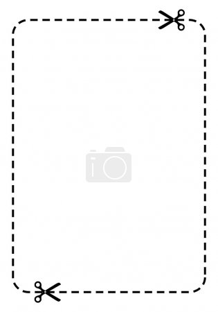 Illustration for Rectangle coupon vector illustration - Royalty Free Image
