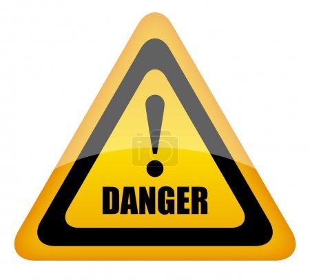 Vector danger sign, eps10 illustration...