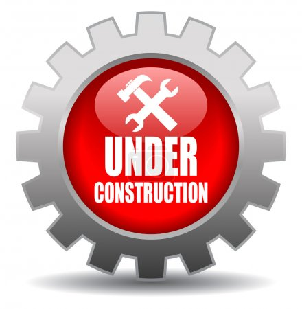 Illustration for Vector under construction sign isolated on white - Royalty Free Image