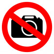 No photo camera vector sign isolated on white...