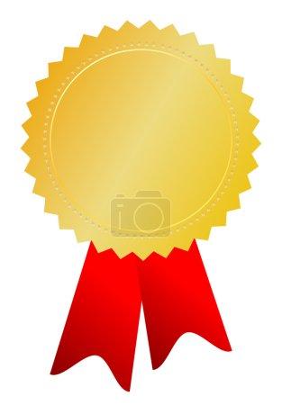 Illustration pour Illustration vectorielle médaille d'or isolée sur blanc - image libre de droit