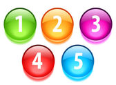 Numbers vector buttons set