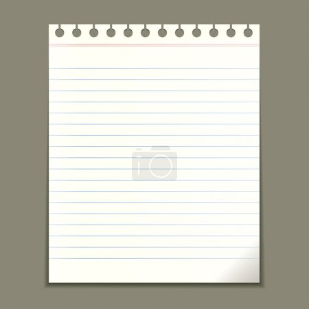 Blank notepad sheet