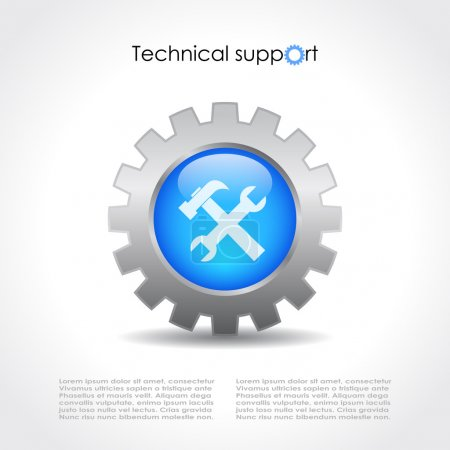 Technical support vector theme