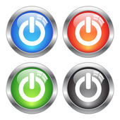 Vector power buttons set isolated on white background