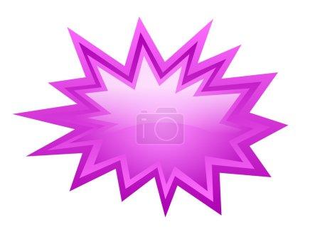 Illustration pour Icône de vecteur rafale rose isolé sur blanc - image libre de droit