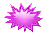 Pink burst vector icon