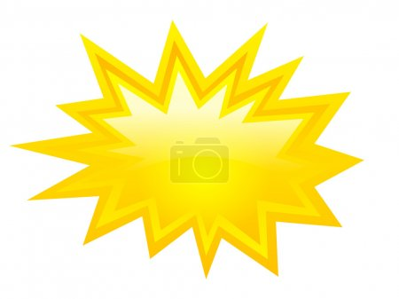 Yellow bursting icon