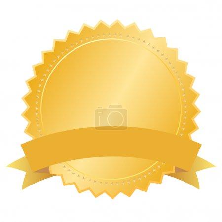 Vector blank gold seal