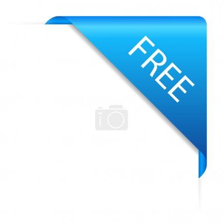 Illustration pour Coin libre vectoriel isolé sur blanc - image libre de droit