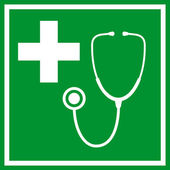 First aid vector sign