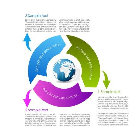 Ilustración de Diseño del vector diagrama ciclo - Imagen libre de derechos