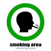 Smoking room sign