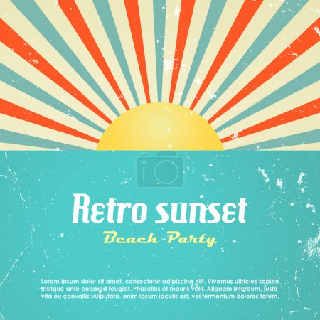 Illustration for Retro poster design, vector illustration - Royalty Free Image