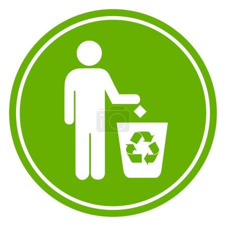 Recycle bin symbol