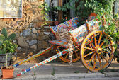 Painted traditional sicilian cart