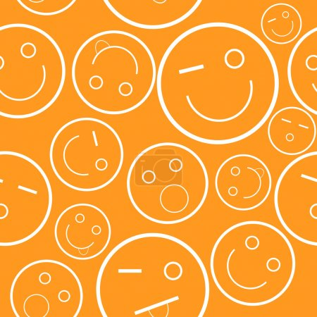 Illustration for New orange smile seamless pattern. Vector illustration - Royalty Free Image