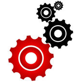 Red and black cogs