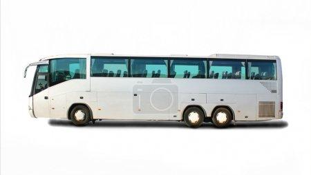 Photo pour Grand bus touristique sur fond blanc - image libre de droit