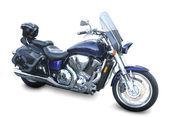 Motocykl na bílém pozadí