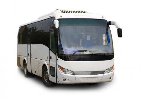 Photo pour Bus touristique sur fond blanc isolé - image libre de droit