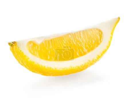 Photo for Lemon slice isolated on white background - Royalty Free Image