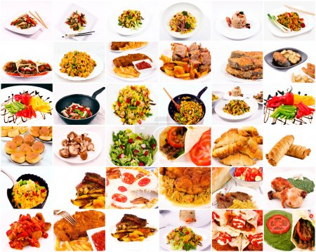 Photo for Bunch of food in one collage - Royalty Free Image