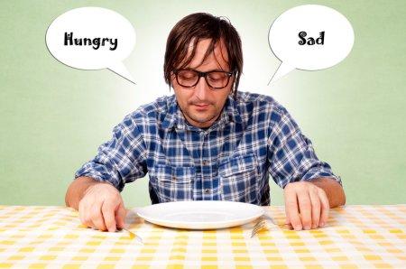 Hungry and sad