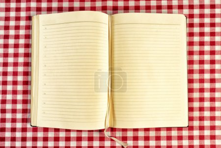 Photo for Blank cookbook from high angle view - Royalty Free Image
