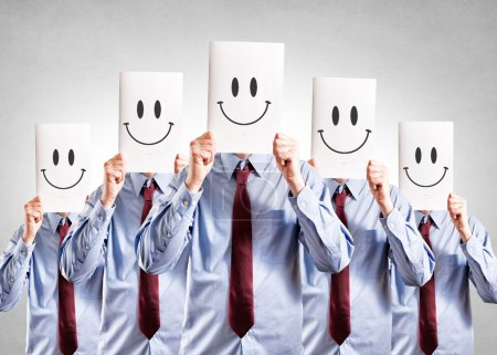 Photo for Happy face businessmen on their face - Royalty Free Image