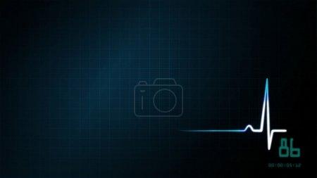 blue EKG monitor background