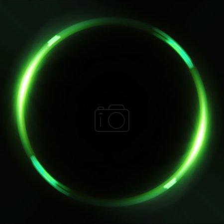 Lens Flares crossing green glow