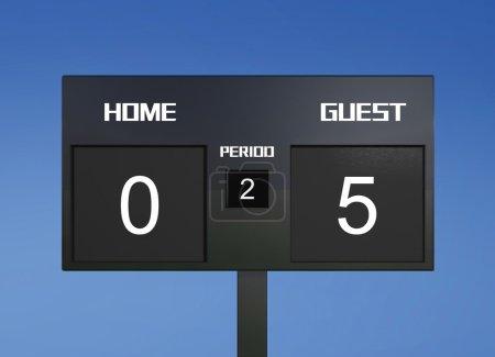 soccer scoreboard score 0 & 5