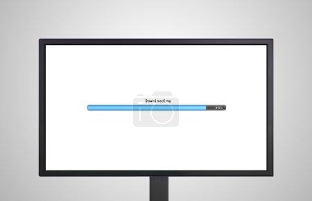 Photo pour Le spectacle d'affichage de moniteur avec ligne barre de couleur qui représente le processus de loadin - image libre de droit
