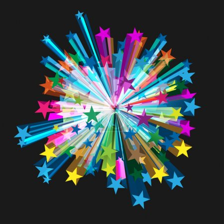 Illustration for Vector Star Burst Design - Royalty Free Image