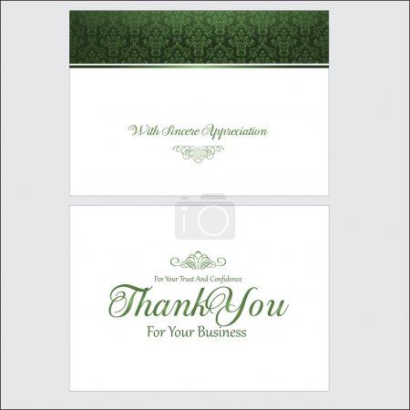 Illustration for Thank You Card Design - Royalty Free Image