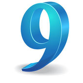 3d Glossy Number Vector