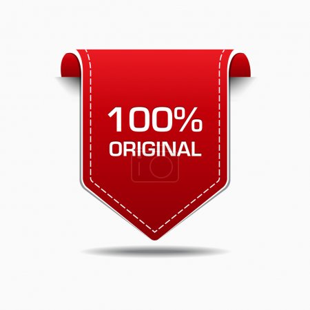 100 Percent Original Red Label Icon Vector Design