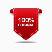 100 Percent Original Red Label Icon Vector Design