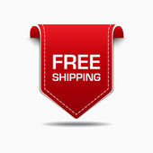 Free Shipping Red Label Icon Vector Design