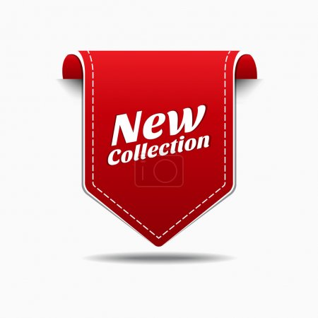 New Collection Red Label Icon Vector Design...