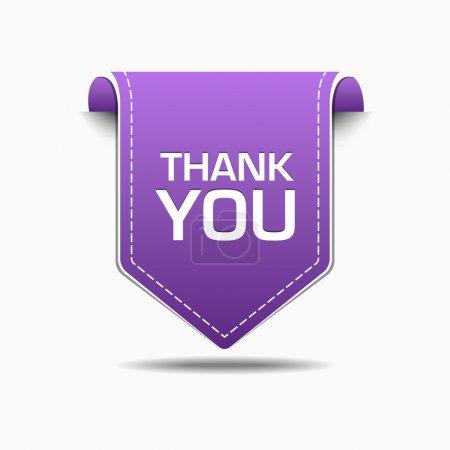 Illustration pour Merci Purple Label Icon Vector Design - image libre de droit