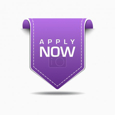 Apply Now Purple Label Icon Vector Design